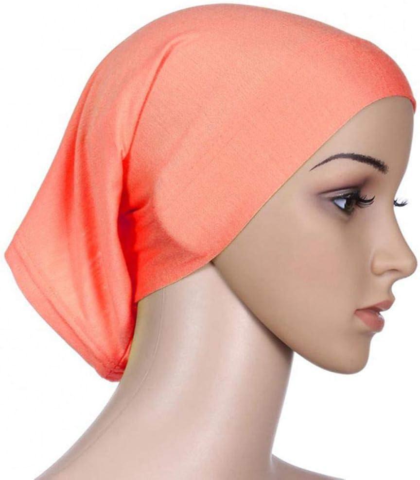 Pigup Femmes Foulard /élastique Sweat Absorbent Cotton Underscarf Hijab Tube Cap# 1