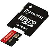 Transcend 32 GB MicroSDHC Class 10 UHS-I Memory Card with Adapter 90 MB/S, TS32GUSDHC10U1