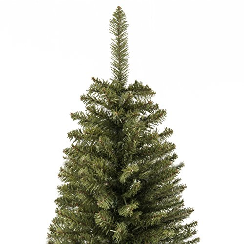 Best Choice Products 7.5ft Premium Hinged Fir Pencil Artificial Christmas Tree w/Foldable Stand, Easy Assembly