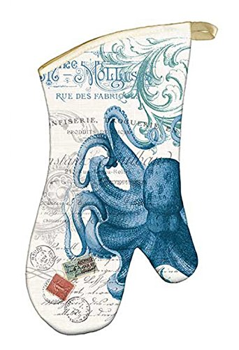 Michel Design Works Padded Cotton Oven Mitt, Octopus