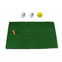"Ownsig Golf Mat 12""x24"" Practice Hitting Mat For Indoor With Rubber Tee Holder & 3 Golf Balls"