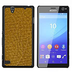 For Sony Xperia C4 - Golden Brown Leather Pattern /Modelo de la piel protectora de la cubierta del caso/ - Super Marley Shop -