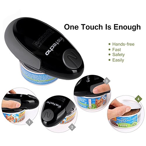 Electric Can Opener, Mini Restaurant Can Opener, Smooth Edge Automatic Electric Can Opener! Chef's Best Choice (black-mini) by DOPA (Image #3)