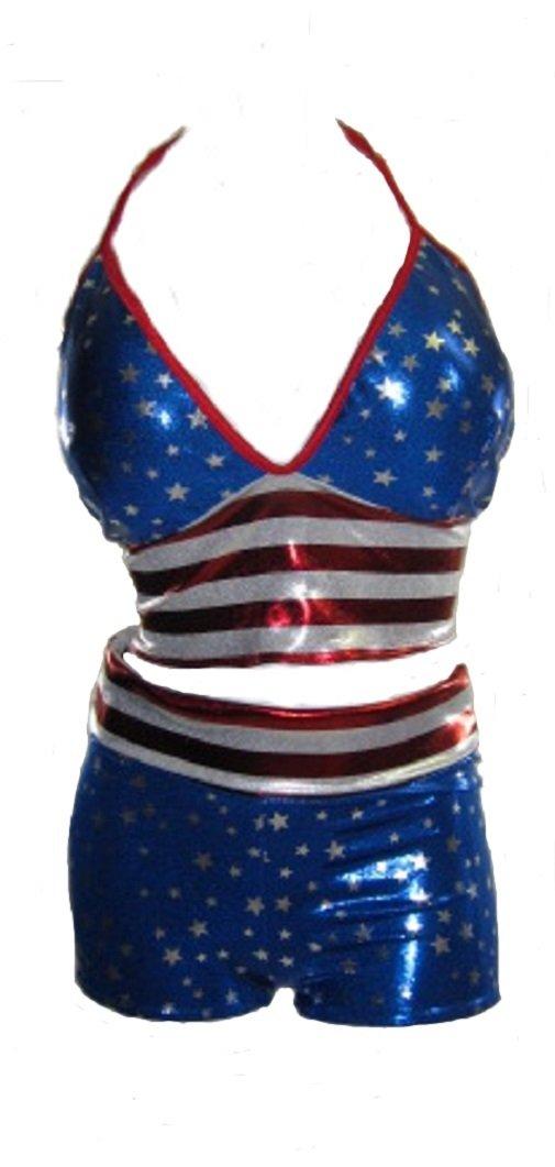 Plus size American Flag Patriot Short Set 5x