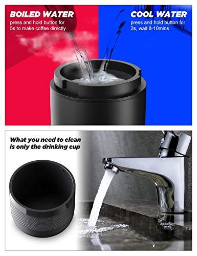 51B2sZZP AL CONQUECO Tragbare Espressomaschine reise Siebtraeger Automatische Kaffeekapselmaschine Ein-Knopf-Bedienung BPA-frei für…