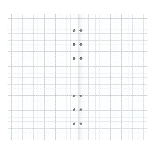 Notepaper White Personal (Filofax Clipbook Squared Notepaper Refill, Personal (6.75