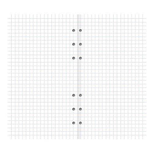 Filofax Clipbook Squared Paper Refill, Personal Size: 6-3/4 x 3-3/4 (B344006)