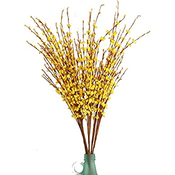 Amazon nantucket home 23 faux yellow forsythia floral spray misswarm 10 pieces 295 long of jasmine artificial flower artificial flowers fake flower for wedding mightylinksfo Gallery