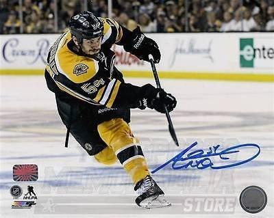 Adam McQuaid Boston Bruins Signed Autographed Goal Shot 8x10