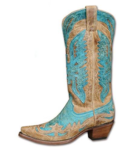 Stars & Stripes Vrouwen-westerse Laarzen Wbl-11 - Cowboy Laarzen Of Cowboy Laarzen En Biker Boots Westerse Laarzen Laarsjes Voor Vrouwen Of Vrouwen Blauw