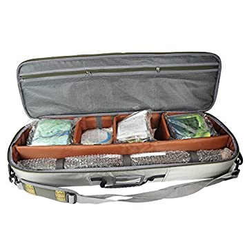 Aventik Multi-function Fishing Rod Gear Case All In One Easy Carry, Super Light Weight, Airplane Allowed, Compartment Adjustable