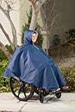 Wheelchair Winter Poncho – Warm Sherpa Poncho with Hood - for Adults – Poncho Heavy Duty – Waterproof Poncho for Adults