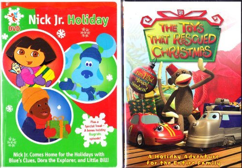 Nickelodeon Christmas : Dora the Explorer a Present for Santa , Blue's Clues Blue's Big Holiday , Rugrats Babies in Toyland , Little Bill Merry Christmas , Plus : The Toys That Rescued Christmas : Christmas 2 Pack Collection