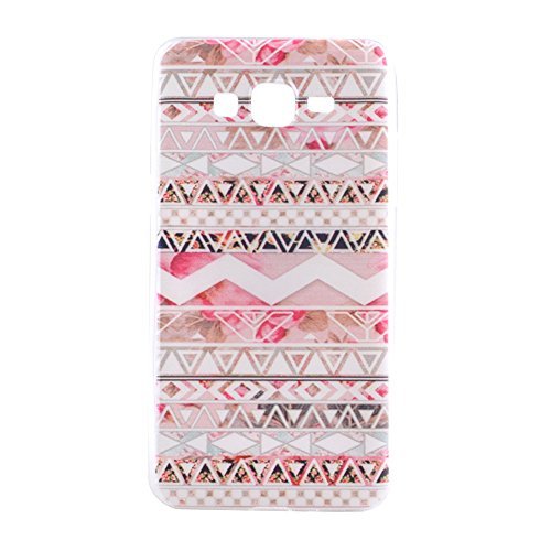 Samsung G5308 Case, Showing Totem Series Flexible Soft TPU Cover Protective Case For 5.0 inches Samsung Galaxy Grand Prime G5308 (Wave Flower National) Premium Wave Silicone Skin
