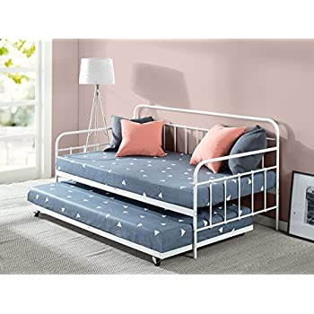 dhp manila metal framed daybed with trundle twin white kitchen dining. Black Bedroom Furniture Sets. Home Design Ideas