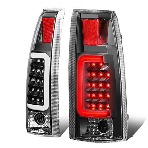 For Chevy/GMC C/K-Series Pair of 3D LED Tail Brake Light (Black Housing Clear lens)