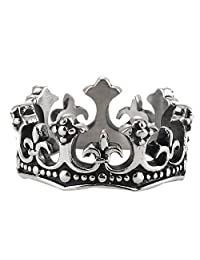 Cross Jewelry 316L Stainless Steel Gothic Crown Unisex Ring
