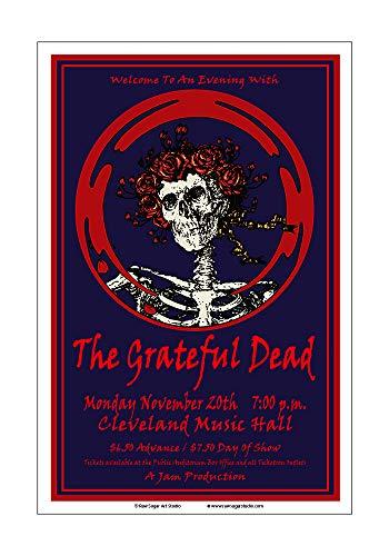 - Raw Sugar Art Studio Grateful Dead 1978 Cleveland Concert Poster