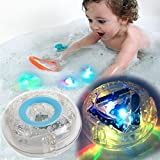 #4: Bathroom LED Light Toys Perfect With Organizer Educational Bath Letters Waterproof Funny Baby babiesFloating Light-up Bathroom sets Bathing Tub LED Light Party Toys for Kids Boys Girls Bathtub storage