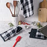 NEVERGIUP A Pair Plaid Oven Mitts, Heat Resistant