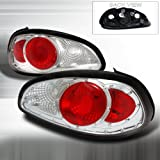 Spec-D Tuning LT-GPX97-DP Pontiac Grand Prix Gt Se Gtp Chrome Clear Red Tail Lights Depo