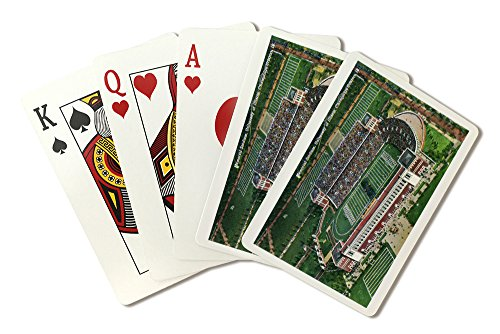 Champaign-Urbana, Illinois - University of Illinois; Aerial View of Memorial Stadium (Playing Card Deck - 52 Card Poker Size with Jokers)