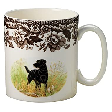 Spode Woodland Hunting Dogs Black Labrador Mug