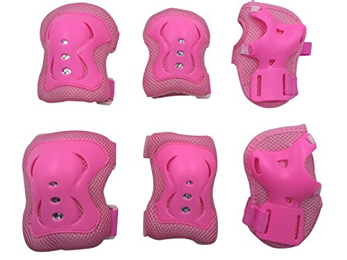 eNilecor Kid's Knee Pads Wrist Roller Elbow Blading Blades Pad Guards for Skating as Girls Birthday, Christmas