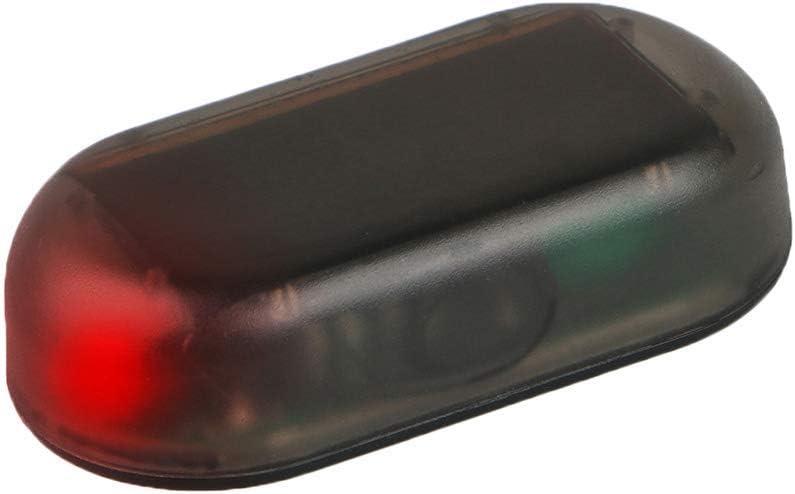 Selotrot Faux Solaire Alarme Voiture Lumi/ère Del Auto Syst/ème de S/écurit/é Antivol Fluo Clignotant Lampe T/émoin Bleu Clair