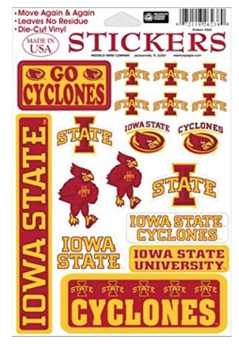 Westrick NCAA Iowa State University Cyclones 5x7 inch Sticker Sheet