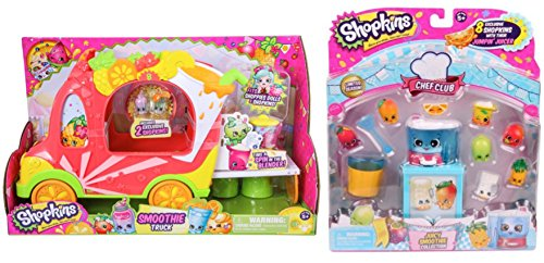 Shopkins Groovy Smoothie Truck & Chef Club Juicy Smoothie Collection