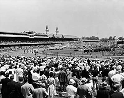 Spectators watching horse racing Churchill Downs Louisville Kentucky USA Poster Print