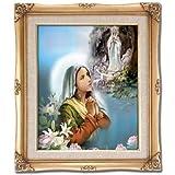 St. Bernadette with Our Lady of Lourdes Framed Art
