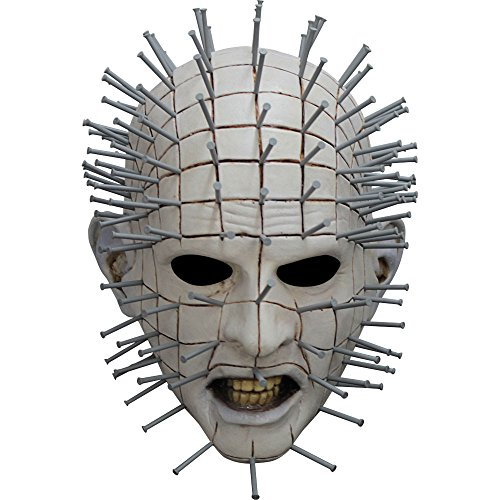 [Ghoulish Productions Men's Monster Horror Hellraiser III Pinhead Mask Halloween Costume Accessory] (Hellraiser Mask)