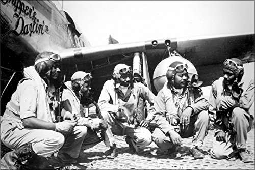 Poster Tuskegee Airmen Pilots Of The 332Nd Fighter Group, The Elite All-African American 332Nd