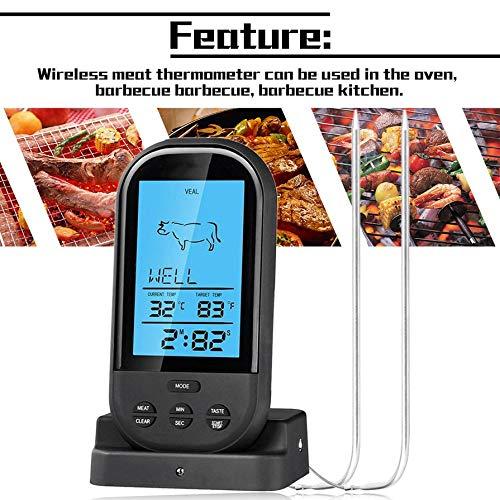 2 Wireless Digital Thermometer Barbecue Temperature