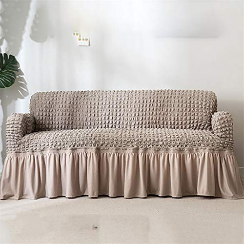 (Ranferuyk Euro Covers for Sofas Stretch Universal Sectional Throw Couch Cover 1/2/3/4 Seat Corner Sofa Cover Elastic Sofa Slipcovers Gray 4-Seater 230-300cm)