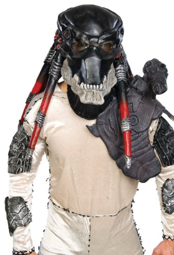 Predator Deluxe Costumes (Rubie's Costume Co Black Predator Ovhd Latex Costume Costume)