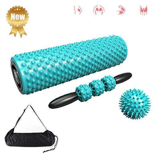 Nwlzx Foam Roller 3 in 1 - Myofascial Recovery,Release Tension, Stiff Sore Muscles, Enhance Mobility, Performance, and Pliability Training- High Density Deep Tissue Massage ()