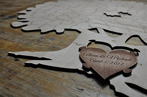 Tree Puzzle Guest Book Alternative 200 piece | Wedding Guest Book | Personalized Guest Book