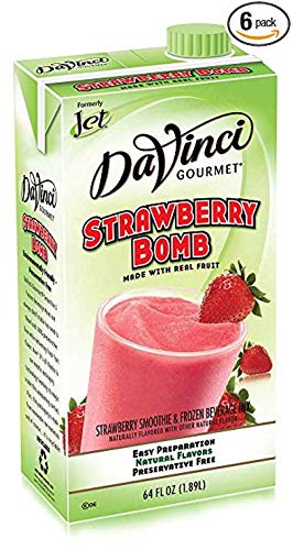Beverage Jet Tea Strawberry Bomb Smoothie Mix -- 6 Case 64 Ounce by Kerry Food and Beverage (Image #1)
