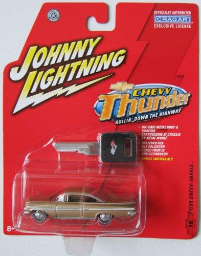 Johnny Lightning Chevy Thunder 1959 Chevy Impala Gold #18