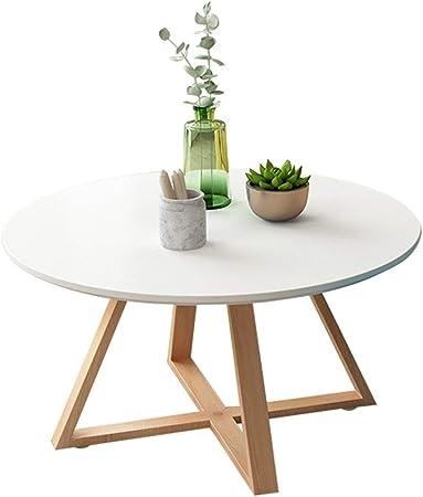 Muebles y Accesorios de jardín Mesas Ronda de Mesa de café Sala de Estar Sencilla sólida Mesa de Centro de Madera de la Esquina balcón Mesa de pequeño tamaño té, Alta Carga: