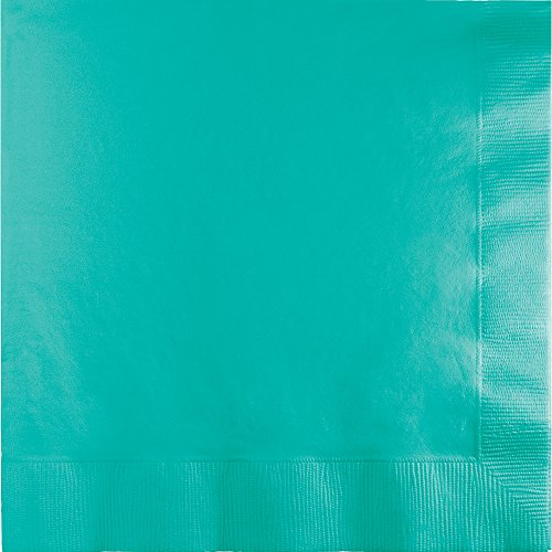 Creative Converting 324771 Touch of Color 500 Count 3-Ply Paper Lunch Napkins, Teal (Teal Lunch Napkins)