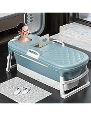 Bath Tub,Portable Folding Bathtub,Free Standing Bathtub for Household Saunas,Easy to Install and Drain