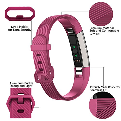 For Fitbit Alta HR and Alta Bands(12 Pack), Maledan Replacement Accessories Wristbands for Fitbit Alta and Alta HR, Large