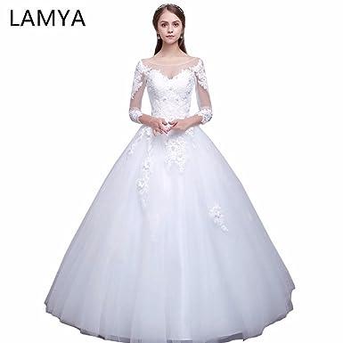 ea7f247dd43 Lamya Real Photo Long Sleeve Princess Elegant Wedding Dresses Bridal Gowns