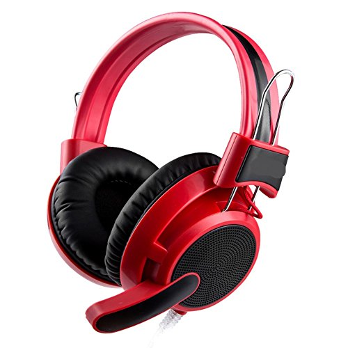 computer headsets Head Gaming Headset Voice with a microphone headset-red