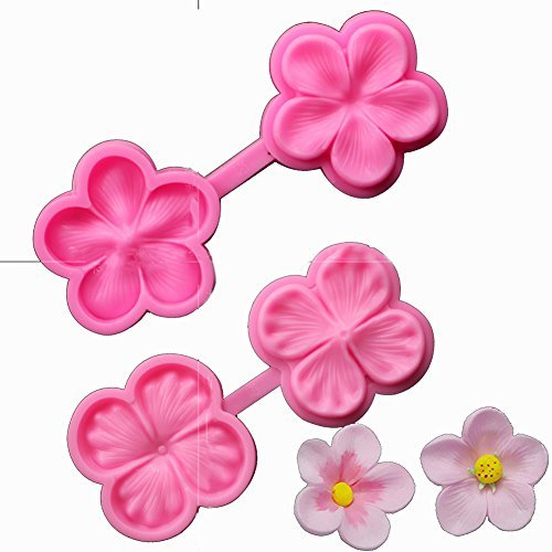 SK Flower Blossom Veiner Fondant Cake Chocolate Sugarcraft Mould Mold Tool 1Pcs (Style 1)