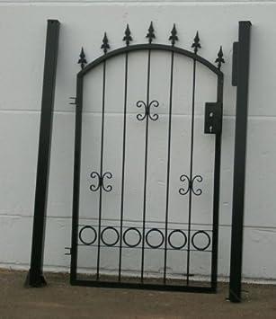 hoftor gartentor einfahrtstor bogentor schwarz breite 100cm x hohe 150cm